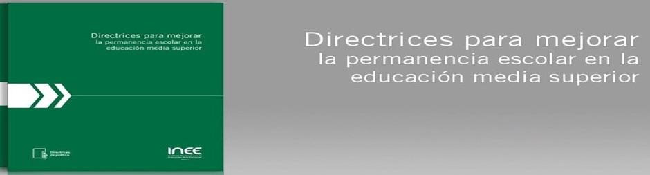 Directrices para mejorar la permanencia escolar.